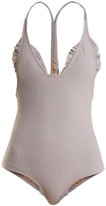 MADE BY DAWN Traveler ruffle-trimmed swimsuit