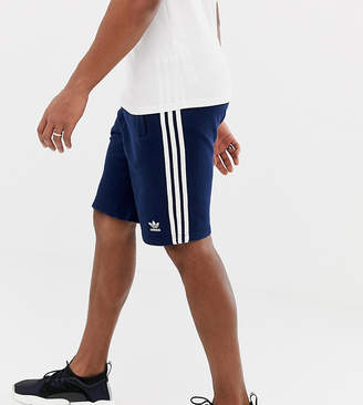 adidas three stripe shorts in navy