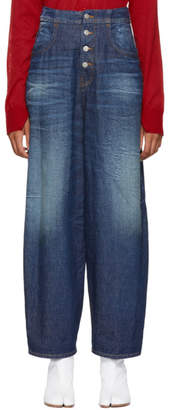 Maison Margiela Blue High-Waisted Jeans
