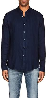 John Varvatos Men's Banded-Collar Button-Front Shirt