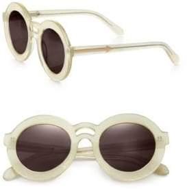 Joie Joyous Plastic Round Sunglasses/Gold Mirror