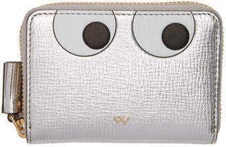 Anya Hindmarch Silver Small Eyes Zip Around Wallet