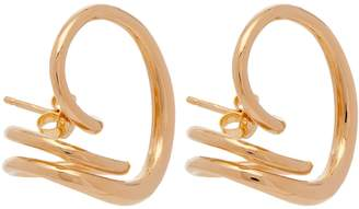 Charlotte Chesnais Round Trip 18kt gold-plated earrings