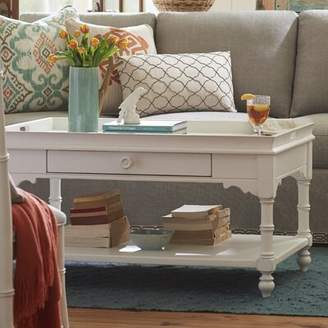 August Grove Tennille Coffee Table with Tray Top August Grove