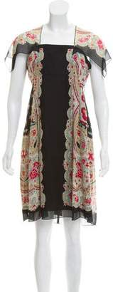Anna Sui Paisley Knee-Length Dress