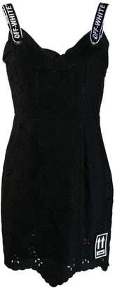 Off-White Sangallo short dress
