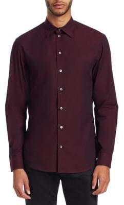 Emporio Armani Long Sleeve Texture Shirt