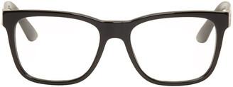 Versace Black Rectangular Glasses $250 thestylecure.com