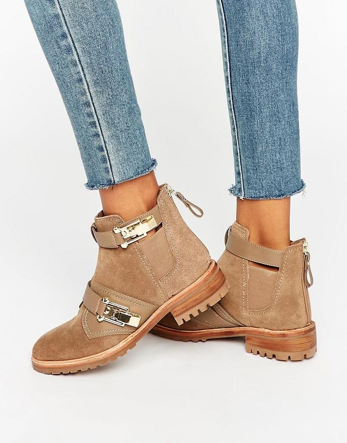 AldoALDO Buckle Detail Flat Chelsea Boots