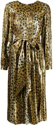 Marc Jacobs belted leopard print dress