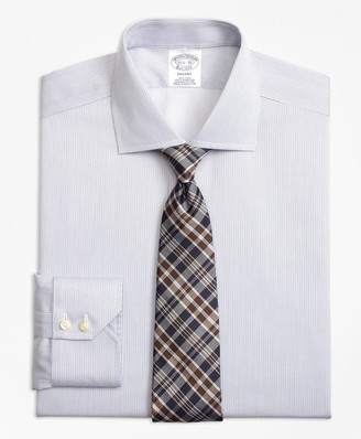 Brooks Brothers Regent Fitted Dress Shirt, Non-Iron Narrow Stripe