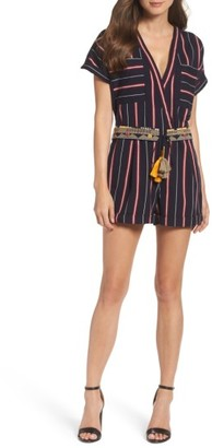 Women's French Connection Hasan Stripe Romper $148 thestylecure.com