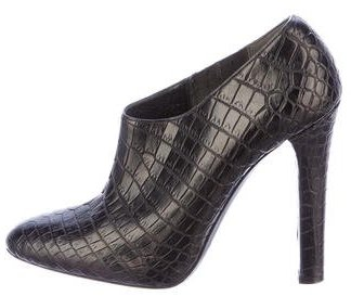 Ralph Lauren Collection Crocodile Booties