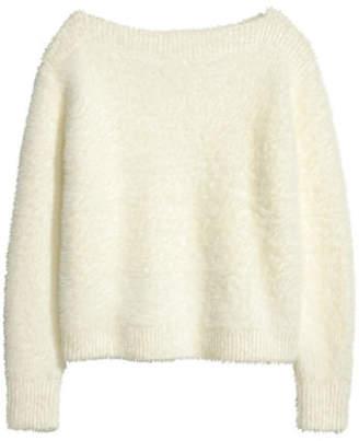 H&M Fluffy Sweater - White