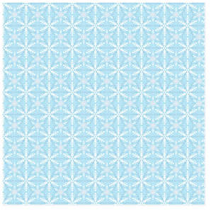 Snowflake Blue Self-Launch Wrapping Paper