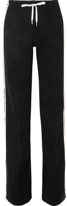 Miu Miu Striped Cotton-blend Jersey Track Pants