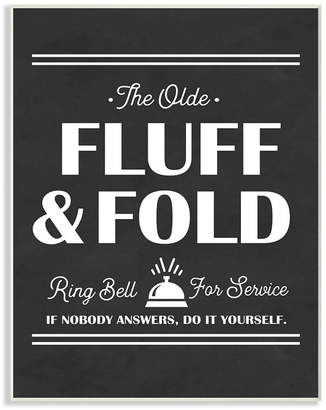 "Stupell Industries Olde Fluff and Fold Ring Bell for Service Wall Plaque Art, 10"" x 15"""