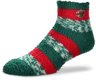 For Bare Feet Women's For Bare Feet Minnesota Wild Pro Stripe Slipper Socks
