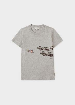 Paul Smith Boys' 2-6 Years Grey 'Mini Stripe' Print T-Shirt