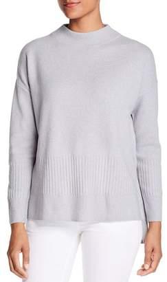 Donna Karan Funnel-Neck High/Low Sweater