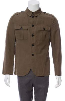 John Varvatos Woven Button-Up Jacket