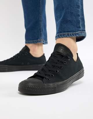Converse ox plimsolls in black m5039c
