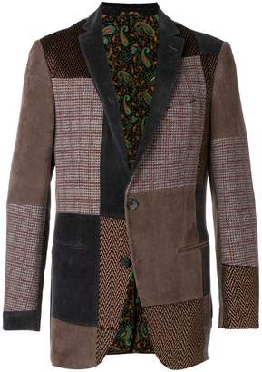 Etro patch tweed jacket