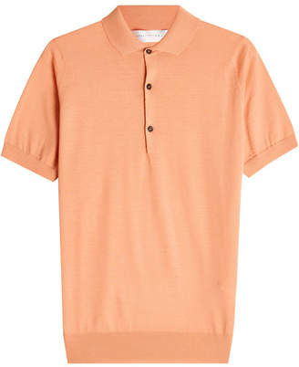 Victoria Beckham Virgin Wool Polo Top
