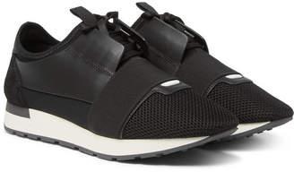 Balenciaga Race Runner Leather, Neoprene and Mesh Sneakers