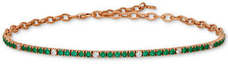 LeVian Le Vian Blueberry (1-1/3 ct. t.w.) & Vanilla (1/5 ct. t.w.) Sapphire Bracelet in 14k Rose Gold (Also Available in Emerald)
