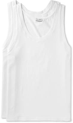 Dolce & Gabbana Day By Day Two-Pack Cotton-Jersey Tank Tops $75 thestylecure.com
