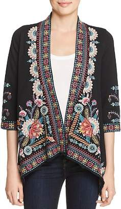 Johnny Was Delphine Embroidered Knit Kimono
