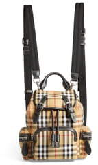 Burberry Small Rucksack Vintage Check Canvas & Leather Backpack