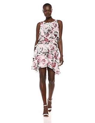 0b2273fb7f0f2 S.L. Fashions Women s Jewel-Strap Tiered Cocktail Party Dress