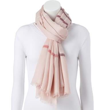 Lauren Conrad Women's Striped Oversized Wrap Scarf