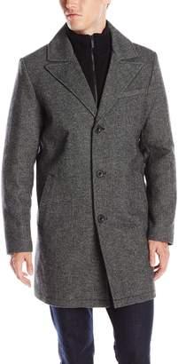 Kenneth Cole New York Men's Walker Coat with Knit Bib