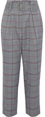 Walter W118 By Baker Ellen Cropped Prince Of Wales Checked Woven Tapered Pants
