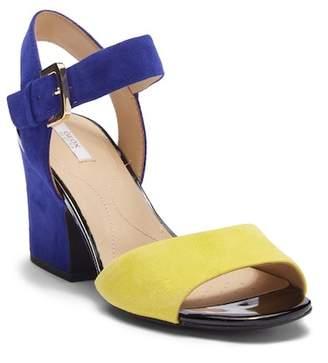 Geox Marilyse Colorblock Suede Sandal