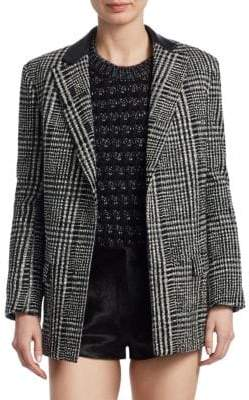 Saint Laurent Embroidered Check Jacket