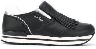 Hogan fringed slip-on sneakers $376.34 thestylecure.com