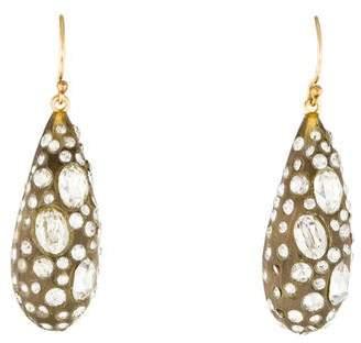 Alexis Bittar Crystal & Lucite Dust Leaf Earrings