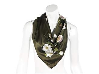 Chanel Green Silk Scarves