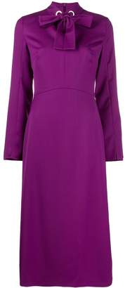 Escada bow neckline dress