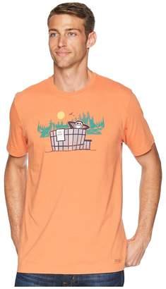 Life is Good Outdoor Hottub Crusher Tee Men's T Shirt