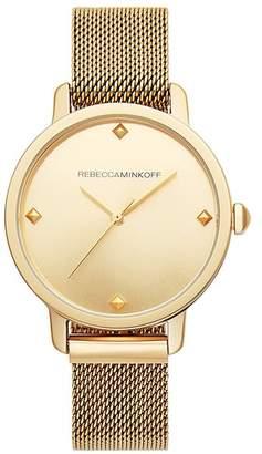 Rebecca Minkoff Bffl Gold Tone Mesh Bracelet Watch, 36Mm