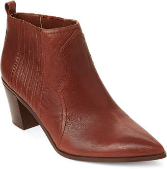 Nine West Natural Cowboy Pointed Toe Ankle Booties