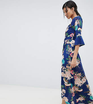 Parisian Tall floral maxi dress with wrap front