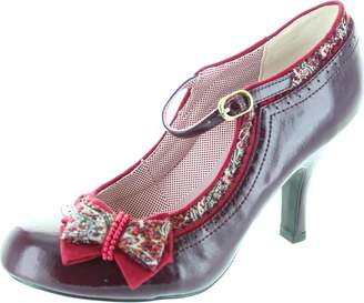 Ruby Shoo Women's Georgia Red Patent Mid Heel Court Shoe Pump Uk 4 - Eu 37 - Us 6