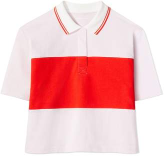 Color-Block Cropped Polo