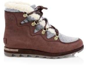 Sorel Sneakchic Alpine Shearling& Leather Boots